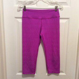 Beyond Yoga Leggings M Magenta Pink Space-Dye Crop